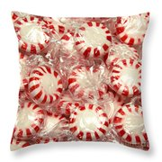 The Land Of Peppermint Candy Square Throw Pillow