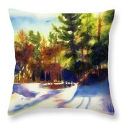 The Last Traces II Throw Pillow
