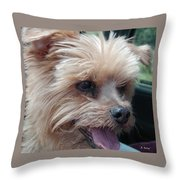 The Late Rocky Throw Pillow