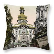 The Lavra Gate - Kiev - Ukraine - Ca 1900 Throw Pillow