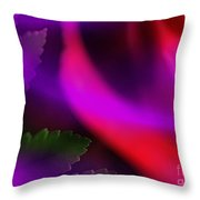 The Leaf And The Rose Throw Pillow by Judi Bagwell