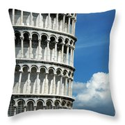 The Leaning Tower Of Pisa Italy Throw Pillow