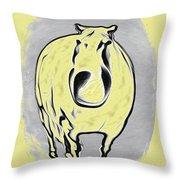 The Legend Of Fat Horse Throw Pillow