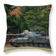 The Leopard 1a5 Main Battle Tank In Use Throw Pillow