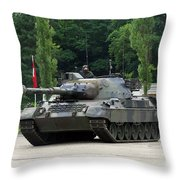 The Leopard 1a5 Mbt Of The Belgian Army Throw Pillow