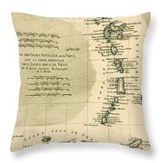 The Lesser Antilles Or The Windward Islands Throw Pillow by Guillaume Raynal