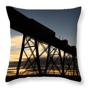 The Lethbridge Bridge Throw Pillow