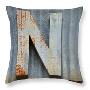 The Letter N Throw Pillow