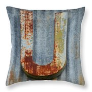 The Letter U Throw Pillow