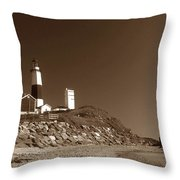 The Light At Montauk Point Throw Pillow