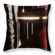 The Light Enters Barn Throw Pillow