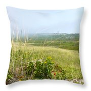 The Light In The Mist Throw Pillow