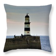 The Light Seaham Harbour Throw Pillow