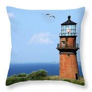 The Lighthouse On Martha's Vineyard Throw Pillow