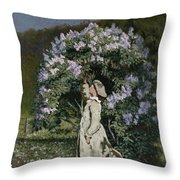 The Lilac Bush Throw Pillow