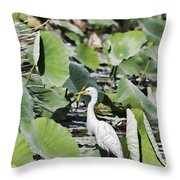 The Lily Float Throw Pillow