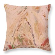 The Lily Who Waits Throw Pillow