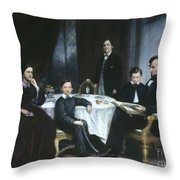 The Lincoln Family Throw Pillow