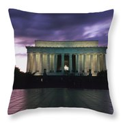 The Lincoln Memorial At West End Throw Pillow