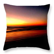 The Lines Of Sunrise  Throw Pillow