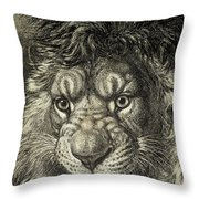 The Lion, King Of Beasts.  From El Throw Pillow