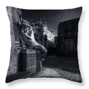 The Little Angel Recoleta Cemetery Ba Throw Pillow