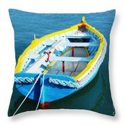 The Little Boat. Throw Pillow