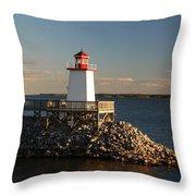The Little Lighthouse Throw Pillow