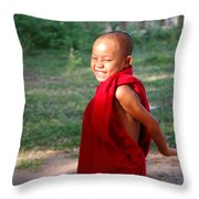 The Little Monk Of Mingun Throw Pillow by RicardMN Photography