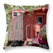 The Little Red Caboose Throw Pillow