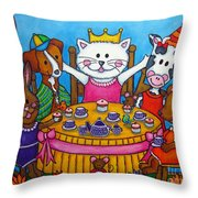 The Little Tea Party Throw Pillow
