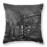 The Loading Pen Throw Pillow by Ron Cline