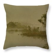 The Lodge In The Mist Throw Pillow