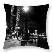The London Eye At Night Throw Pillow