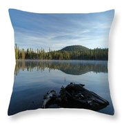 The Lone Log Throw Pillow