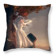 The Lonely Ghost Of October Throw Pillow