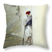 The Lonely Man Throw Pillow