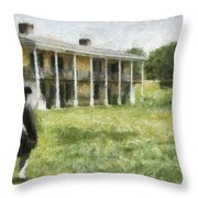 The Lonely Soldier Throw Pillow