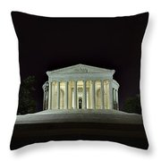 The Lonely Tourist At Jefferson Memorial Throw Pillow