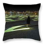 The Lonely Tourist At Pentagon Memorial Throw Pillow