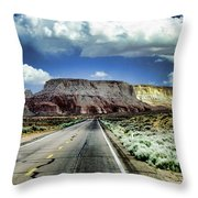 The Long And Lonely Road Throw Pillow by Ellen Heaverlo