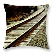 The Long Way Home Throw Pillow by Karen Wiles