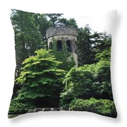 The Longwood Gardens Castle Throw Pillow