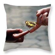 The Lord God Loves Them All Throw Pillow