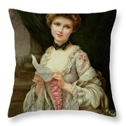 The Love Letter Throw Pillow by Francois Martin-Kayel