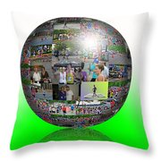 The Love Of Running Throw Pillow