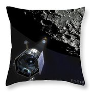 The Lunar Crater Observation Throw Pillow