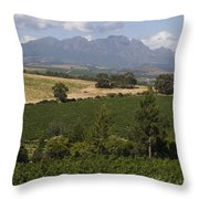 The Lush Garden Landscape Of A Vineyard Throw Pillow