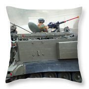 The M113 Tracked Infantry Vehicle Throw Pillow