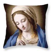 The Madonna Praying Throw Pillow